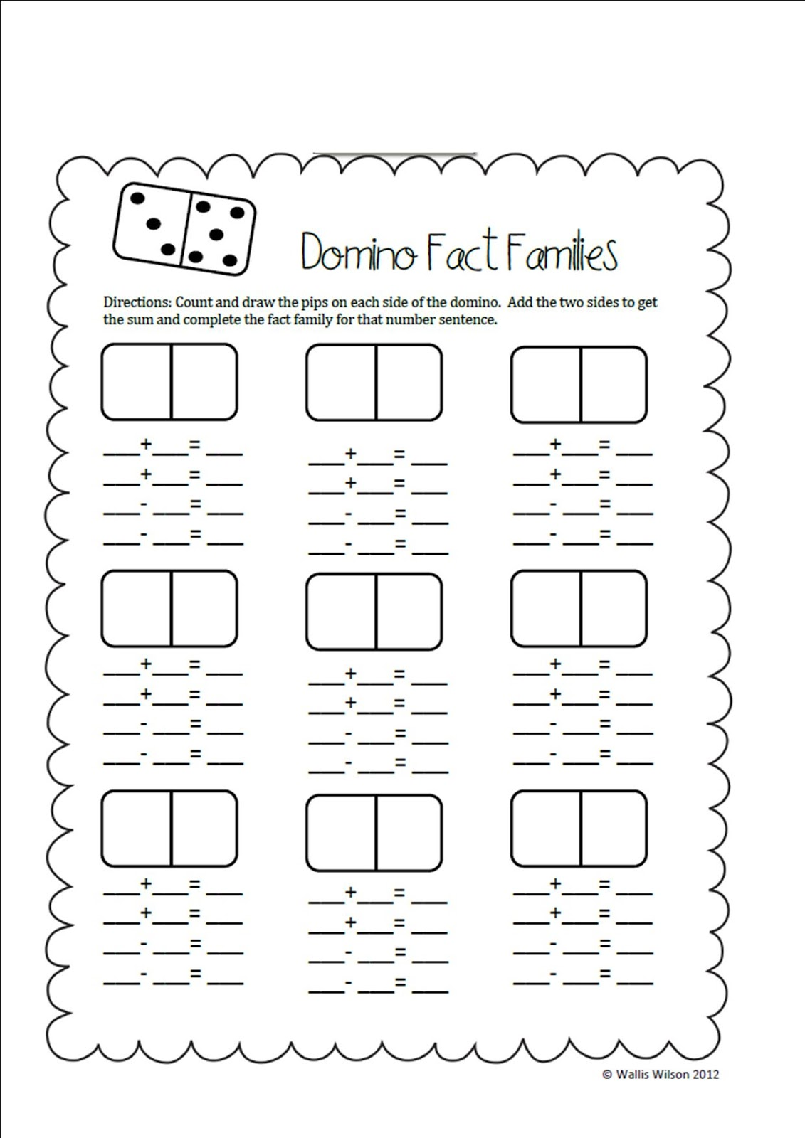 Ms Wilson 39 S Wolves Saying Goodbye A Domino Freebie And