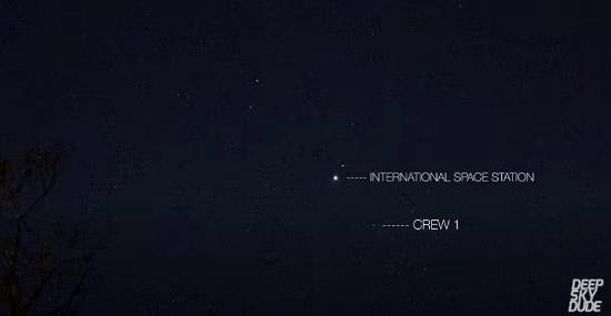 SpaceX se aproximando da Estação Espacial Internacional