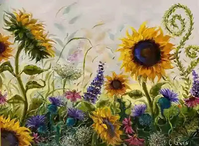 The sunflower seems to be tired of its existence, perhaps because it finds this world too restrictive.