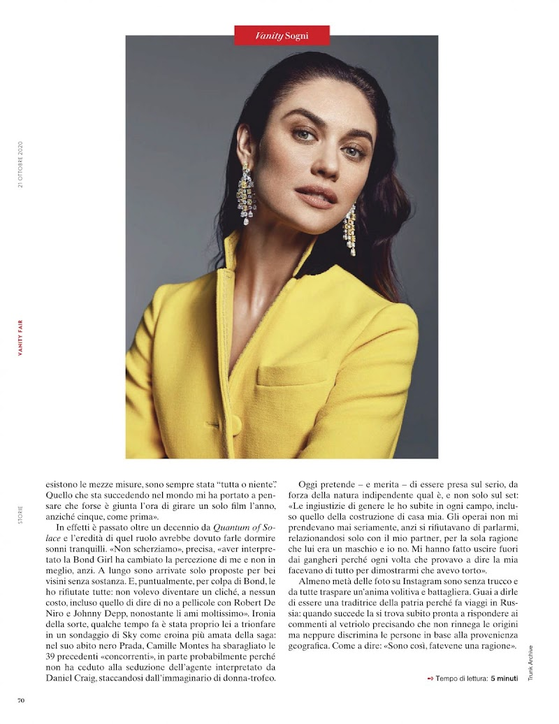 Olga Kurylenko Featured in Vanity Fair Magazine-  Italy October 2020