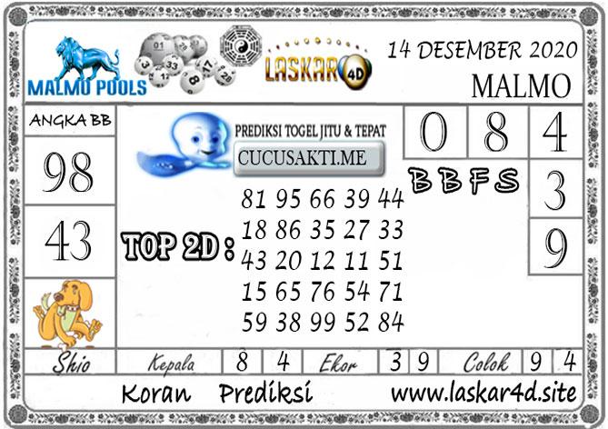 Prediksi Togel MALMO LASKAR4D 14 DESEMBER 2020