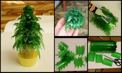 Kitchen Trash Can Sizes Venetian Gold Granite How To Make Christmas Tree From Plastic Bottles. - Crazzy ...