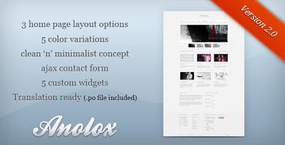 Anolox Wordpress Theme
