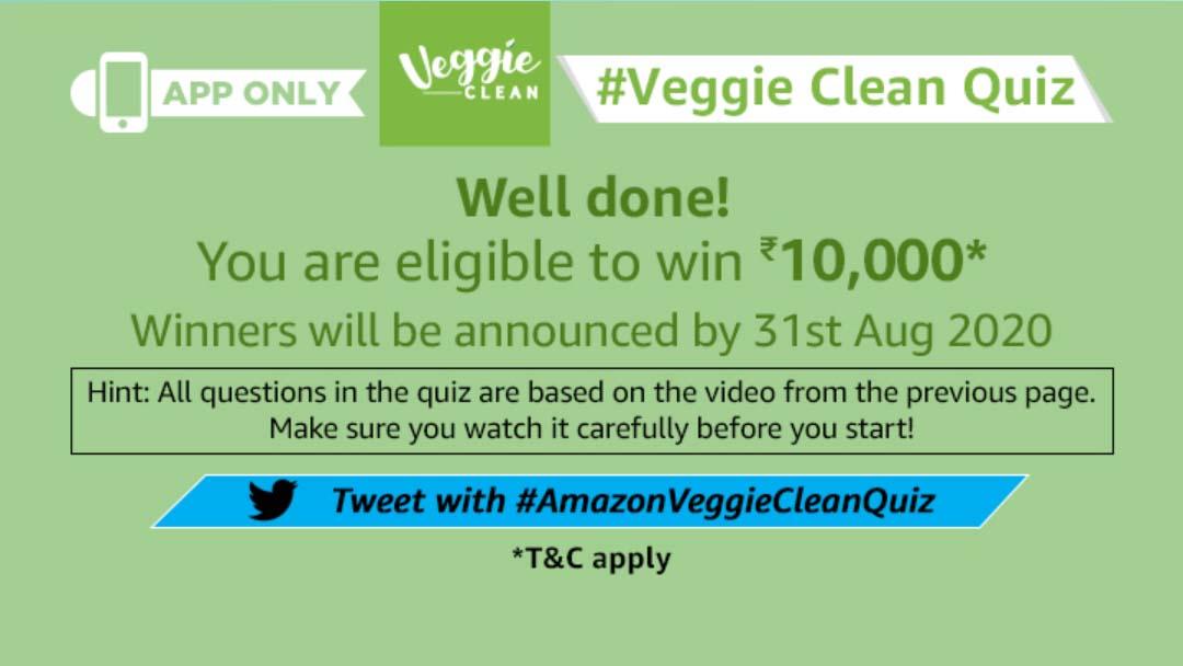 Amazon Veggie Clean Quiz Answers