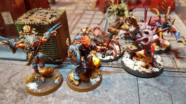 Warhammer 40k battle report - Maelstrom of War - Vital Intelligence - 1500 points - Thousand Sons vs Space Wolves.