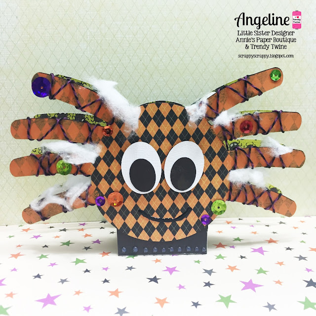 ScrappyScrappy: Spooky Halloween Spider #scrappyscrappy #trendytwine #thecuttingcafe #twine #svg #cutfile #halloween #treatbox