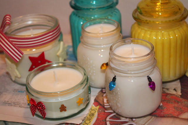 Home-made candles - candle making process tutorial