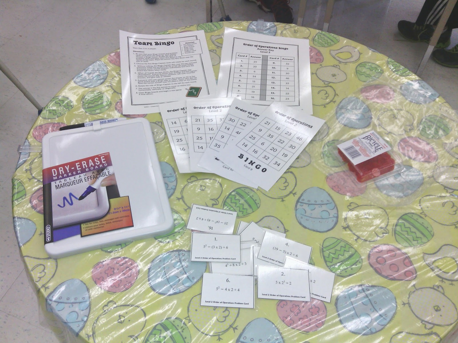 Picture of Order of Operations Bingo Game from http://www.teachingisagift.blogspot.ca