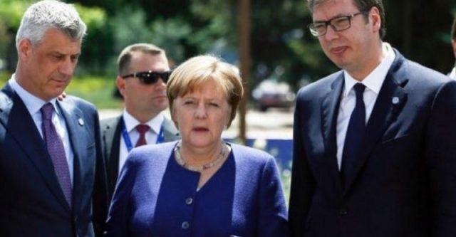 Merkel, Thaci and Vucic in Berlin Summit