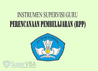 Instrumen Supervisi Perencanaan Pembelajaran (RPP) Guru Kurikulum 2013 Tahun 2019