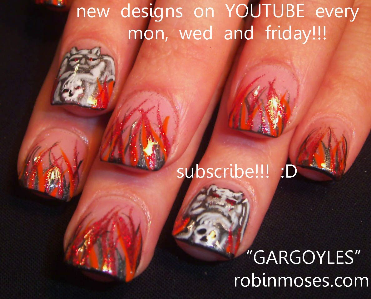 "Robin Moses Nail Art: ""halloween nails"" ""scary nails"