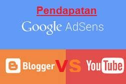 Pendapatan Adsense YouTube VS Blogger Mending YouTube / Blogger..?