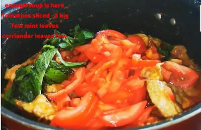 Add Mint coriander leaves