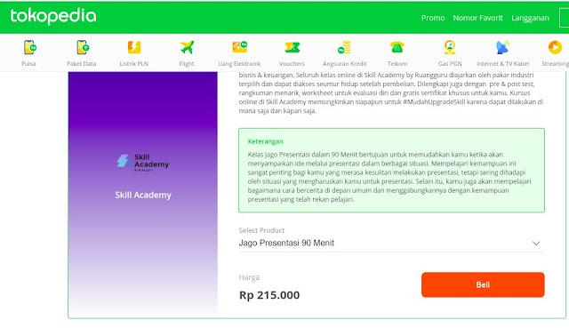 Beli Kelas Ruang Guru Bisa di Online shop Tokopedia