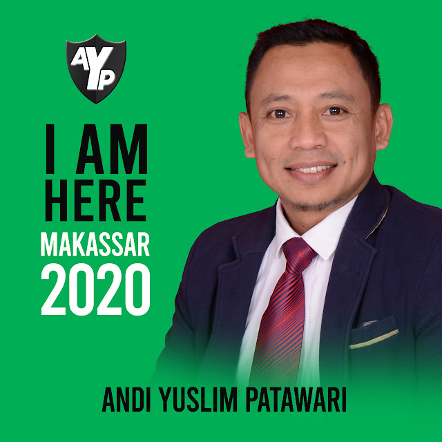 Lewat Tagline I am Here, Yuslim Patawari Siap Maju di Pilkada Makassar