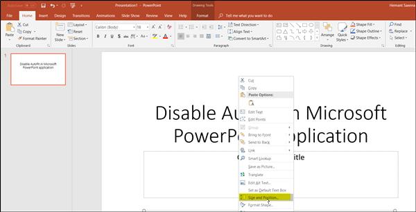 كيفية إيقاف تشغيل ميزة تغيير الحجم التلقائي لتحويل النص تلقائيًا في PowerPoint