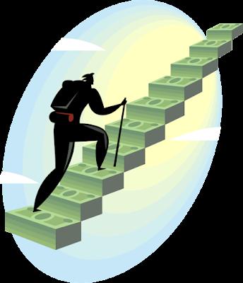 Ilustrasi naik-turun tangga; sebagaimana uang, naik-turun juga juga bermanfaat [2]