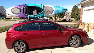 2015 Subaru Impreza Sport and Daggar Kayak