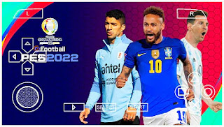 Download PES 2022 PPSSPP Chelito Copa America 2021 Graphic HD & Commentary Peter Drury