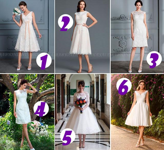 Casamento no verão e os vestidos curtos