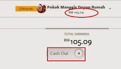 Cash Out Nuffnang RM105