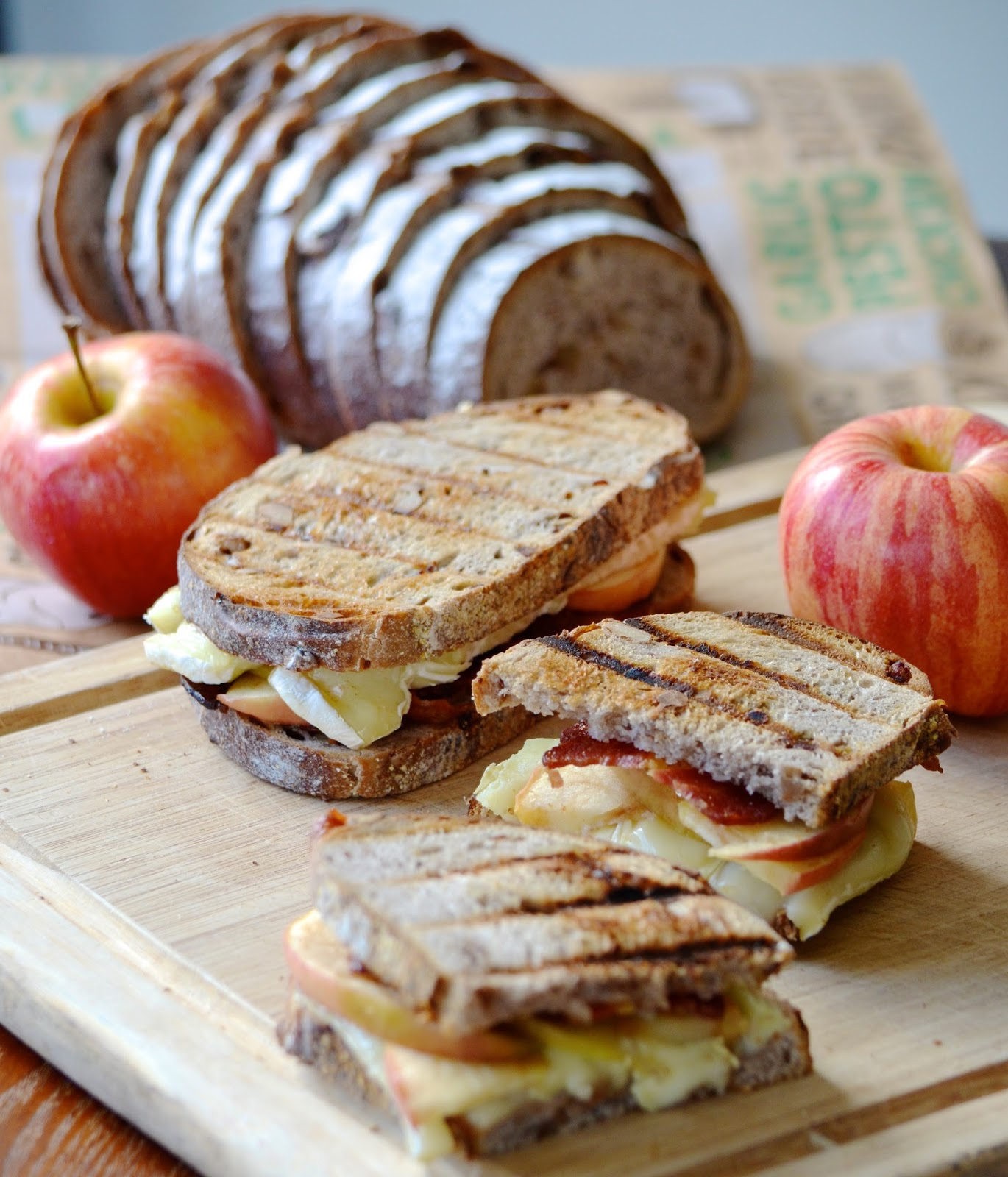 Apple Bacon Brie Panini