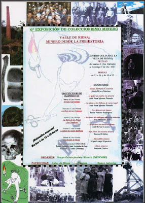 cartel, exposición, Riosa, filatelia, coleccionismo, minero