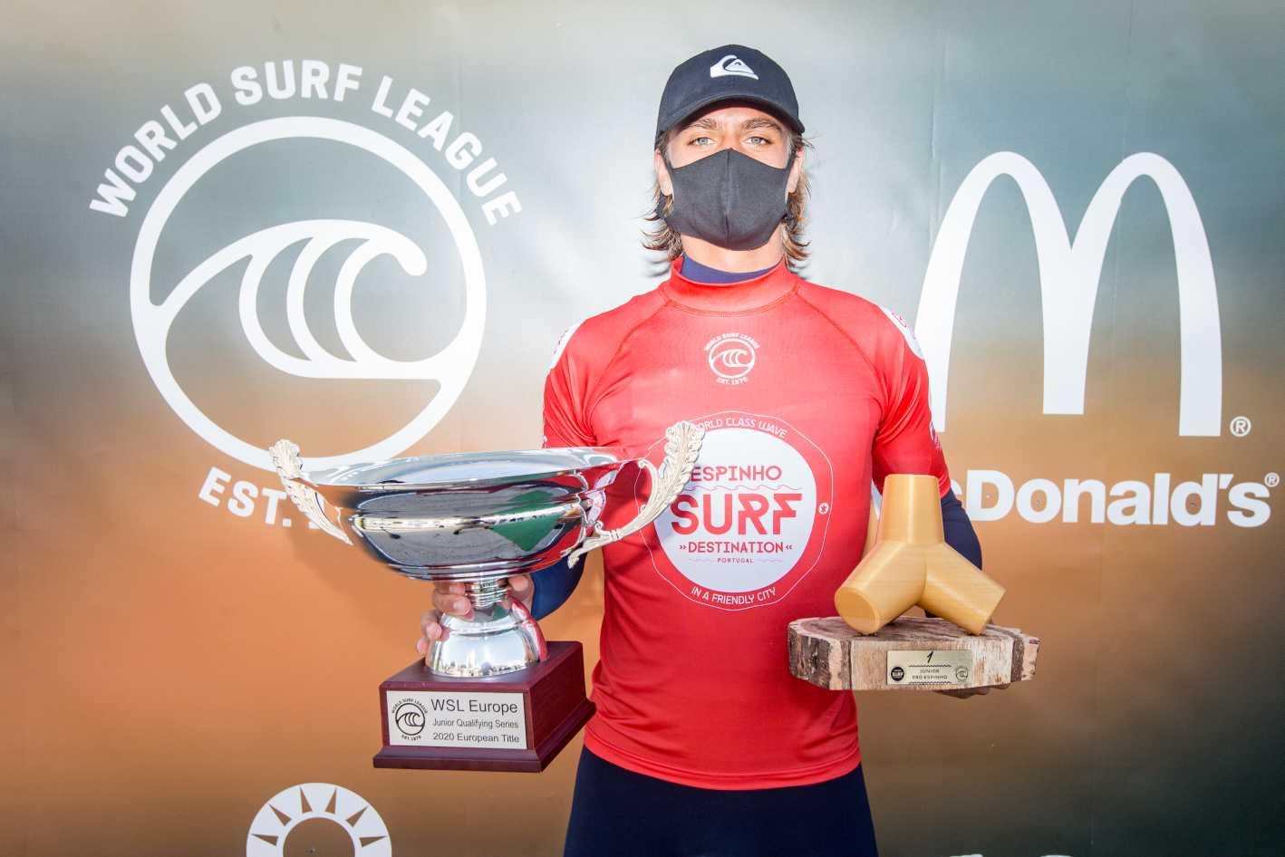 surf30 European junior Champion podium. Kauli Vaast %2528FRA%25299516EspinhoProJR2020Masurel