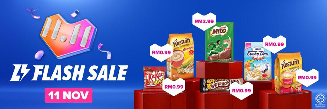 Flash Sale Nestle Lazada 11 November