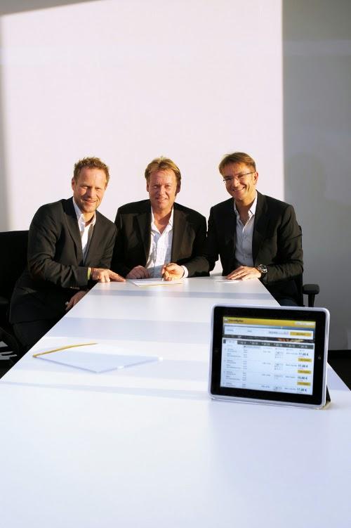 Die CheckMyBus-Gründer Torsten Sturm, Reinhard Wick und Dr. Heinz Raufer