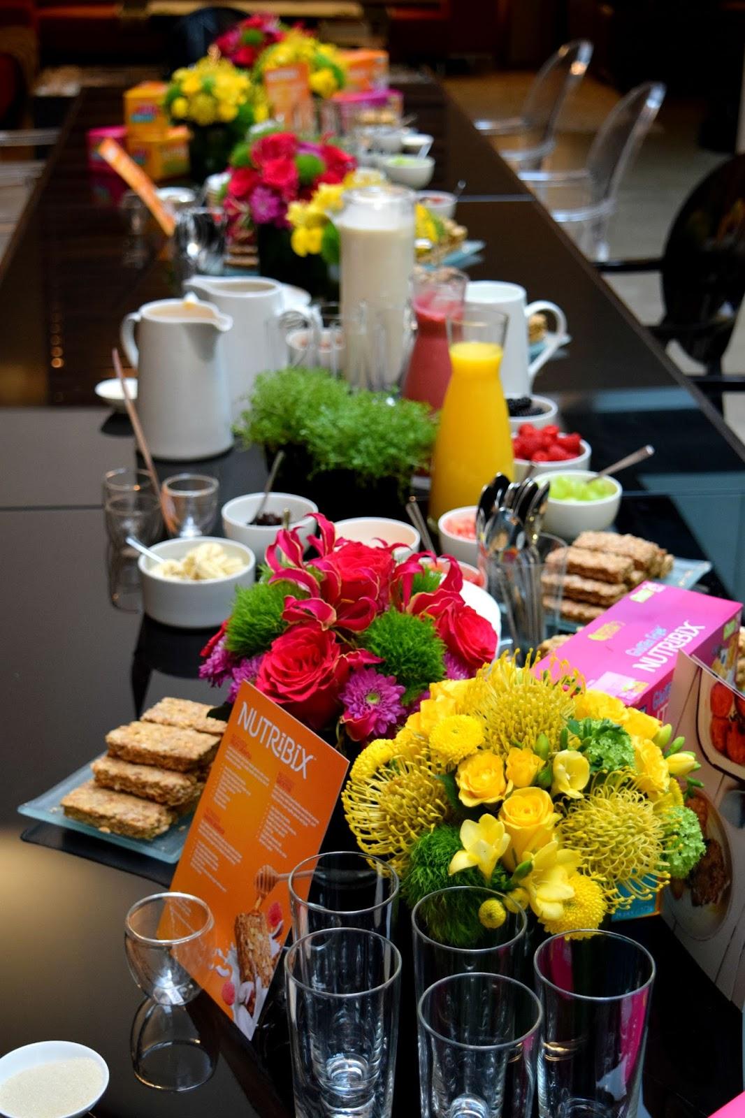 Nutribix breakfast table