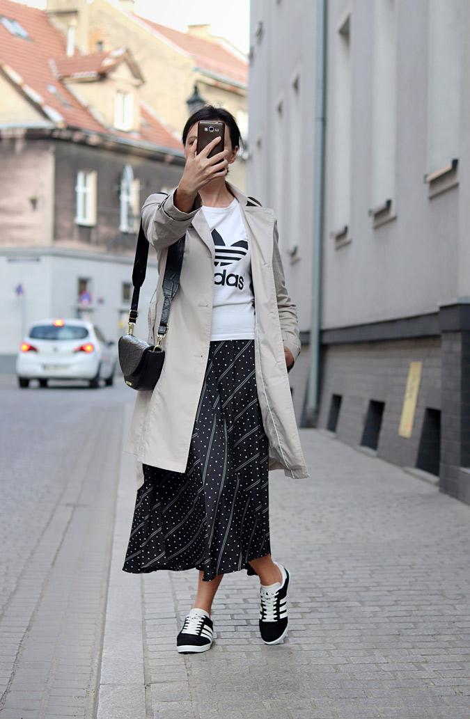 spódnica midi plisowana stylizacje jesień 2020