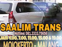 Jadwal SAALIM TRANS Travel Mojokerto Malang PP