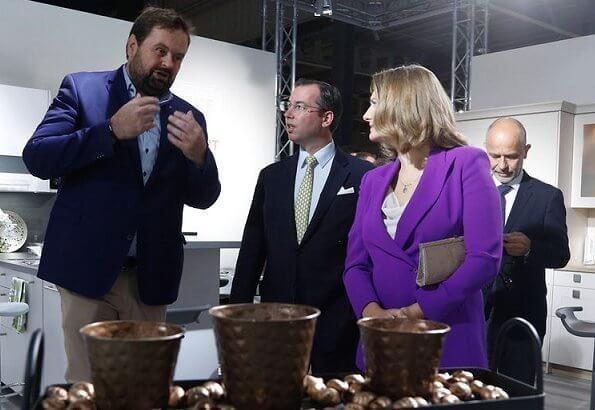Grand Duchess Stephanie wore a purple side-button blazer by Ralph Lauren. Princess Stephanie wore Ralph Lauren purple blazer