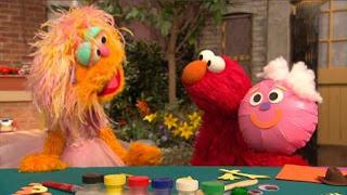 Elmo, Zoe, Rocco, Balloono, Sesame Street Episode 4322 Rocco's Playdate season 43
