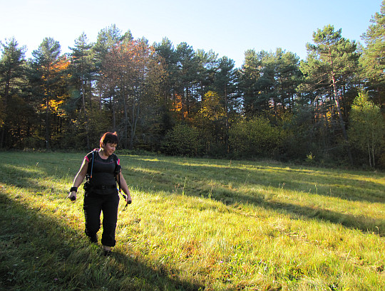 Pierwsza polana na stokach Rotundy.