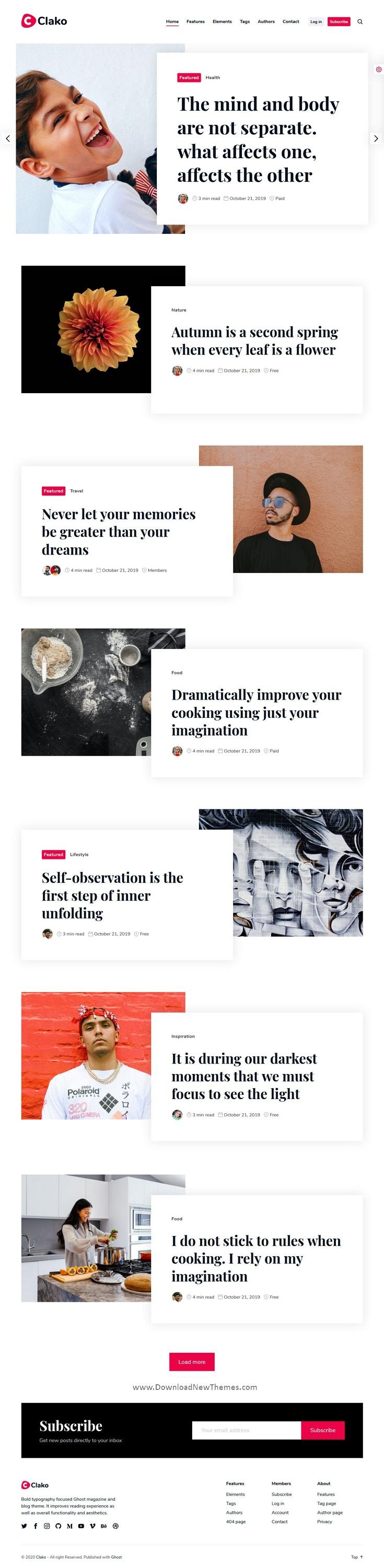 Blog And Magazine Premium Ghost Theme