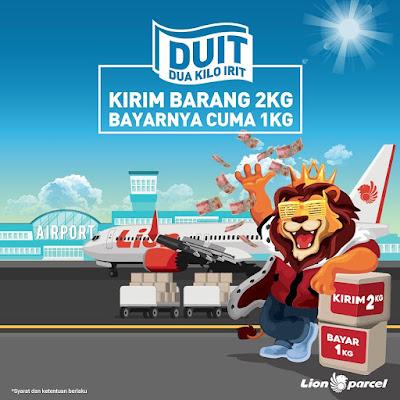 Promo DUIT Lion Parcel, Kirim Paket 2 Kg Bayar Cuma 1 Kg