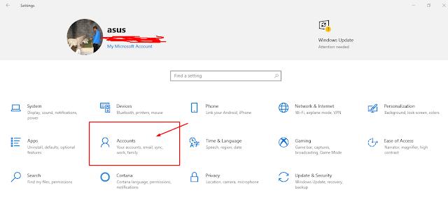 cara ubah dan menghapus pasword windows 10