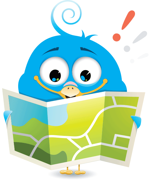 Map Bird - Facebook Sticker
