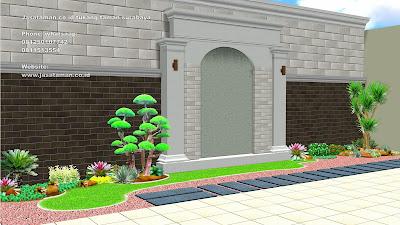 Jasa pembuatan taman minimalis belakang rumah