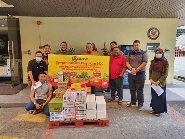 Aktiviti Ayam Brand & JAKOA Bantu Komuniti di Kampung orang Asli Changkat Bintang, Selangor