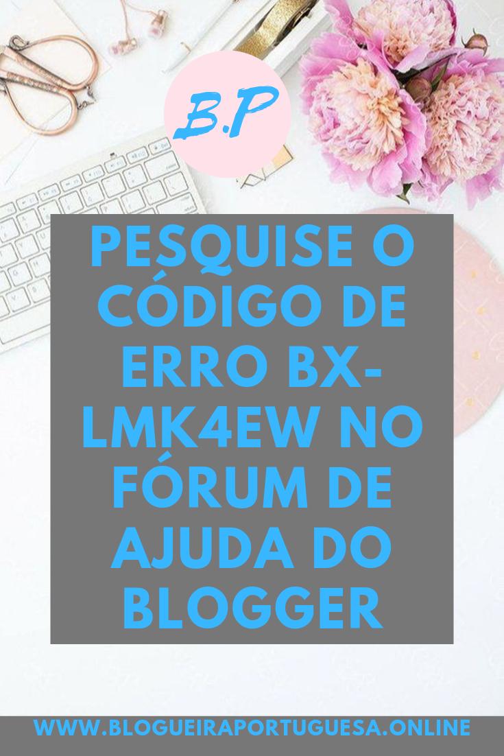 Mensagem de erro do blogger ALT