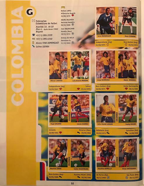Figurine Colombia Francia '98