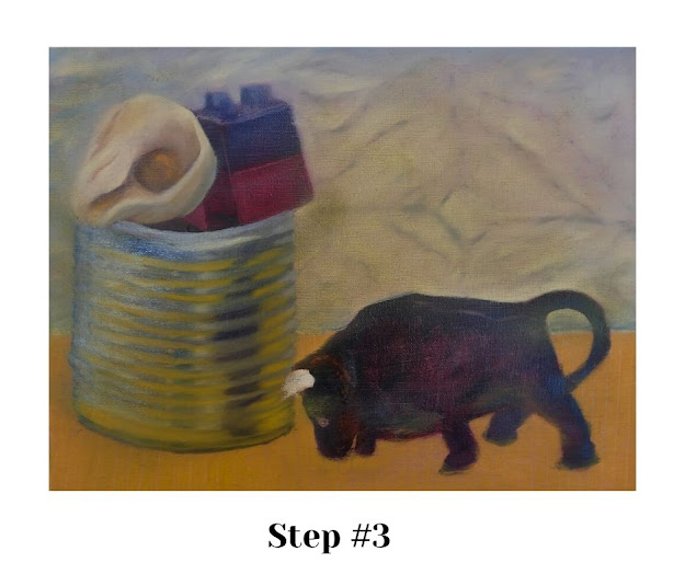 STEP #3: Defining the tin can with reflections and silver surfaces.