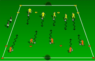 Training session: Work on speed with a fun team game