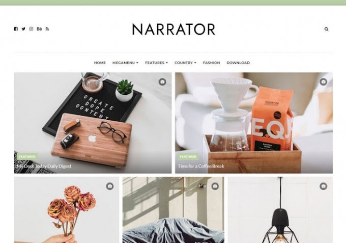 Narrator blogger template free download | SEO ready narrator template download
