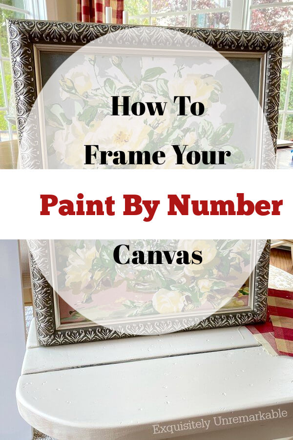How To Frame Your Paint By Number Canvas Text Pin