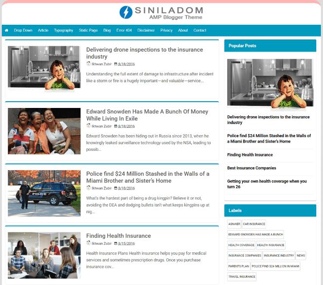 Siniladom Blogger Theme