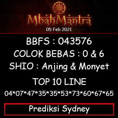 Prediksi Angka Sydney  25 Februari 2021